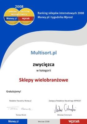 Nr 1 w Rankingu sklepów internetowych Money.pl i Wprost '2008